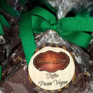 Chocolate Pecan Vegan Toffee – 1/2 Pound